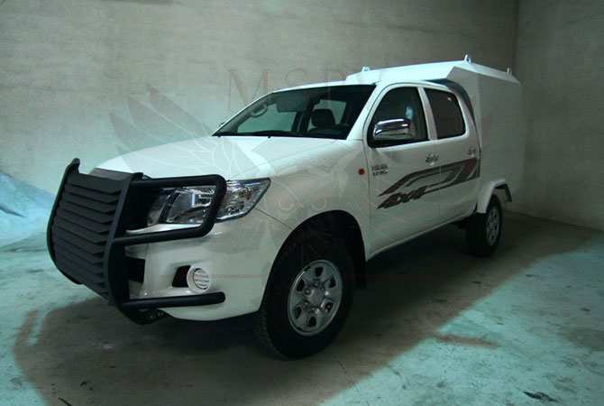 Armoured CIT Vehicle Ghana - Toyota Hilux
